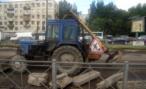 В Петербурге на ремонт закрыли дорогу. Правда, не в том направлении