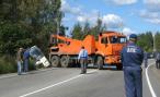 Два грузовика, попавшие в ДТП, заблокировали движение на трассе Саратов-Волгоград