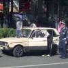 В Москве задержали пьяного полицейского за рулем угнанной машины