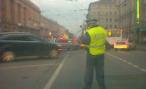 Водитель иномарки попал в ДТП на Петровке, 38