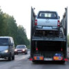 Четыре автомобиля сгорели на автовозе в Кировской области