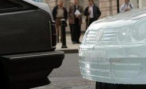 В Германии оштрафовали автомобиль из снега
