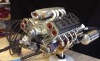 Энтузиаст собрал дома двигатель V8 объемом 45 куб.см