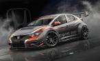 Honda рассказала как будет выглядеть гоночный Civic для нового сезона WTCC