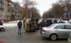 В Ставрополье перевернулась «маршрутка»; пострадали четыре человека