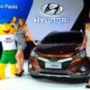 «Хендэ Мотор СНГ» дарит мячик ЧМ по футболу участникам дилерского тест-драйва Hyundai