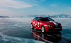 РАФ подтвердила установление рекорда скорости Jaguar XF на льду озера Байкал