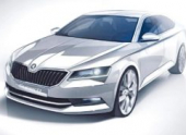 Skoda Superb нового поколения будет представлена в феврале 2015 года