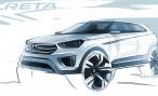 В Сети появились первые изображения субкомпактного кроссовера Hyundai Creta