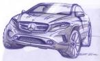 Mercedes интригует общественность «детскими рисунками» GLA