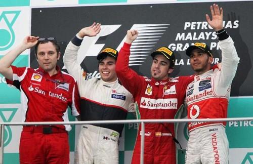 Гран-при Малайзии 2012. Подиум