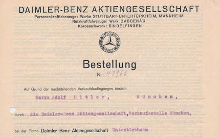 Счет Daimler-Benz