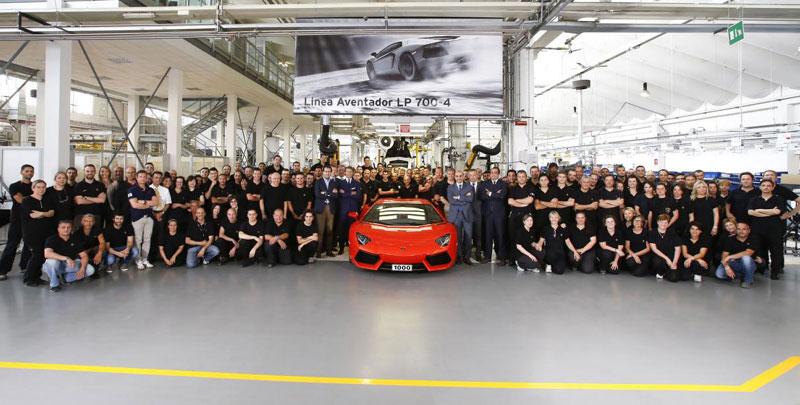 1000-й Lamborghini Aventador LP 700-4