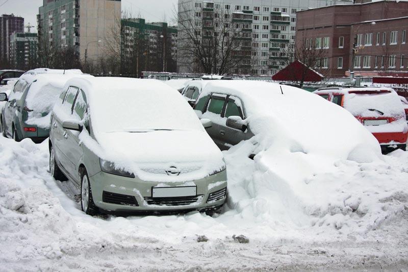 Снег, зима, автомобиль