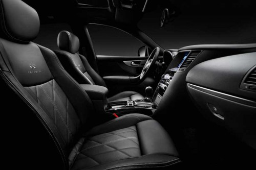 Infiniti FX Black and White