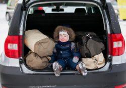 Skoda Yeti, ребенок в машине