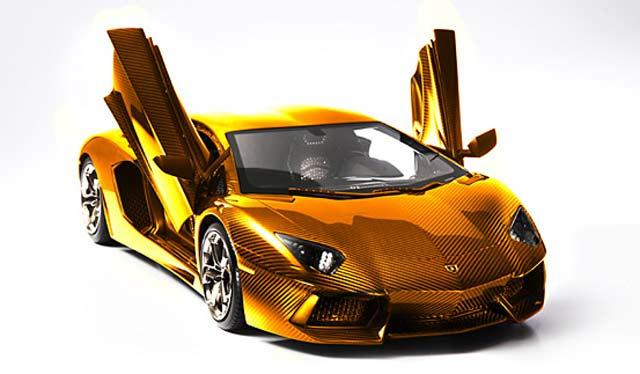 Lamborghini Aventador LP 700-4 с отделкой из золота, платины и бриллиантов