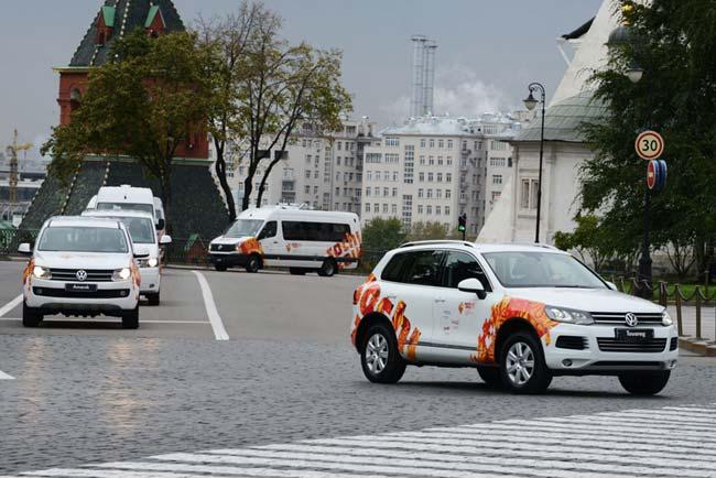 Volkswagen, эстафета Олимпийского огня