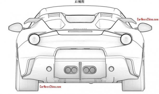 Ferrari F12berlinetta GTO (патентная документация)