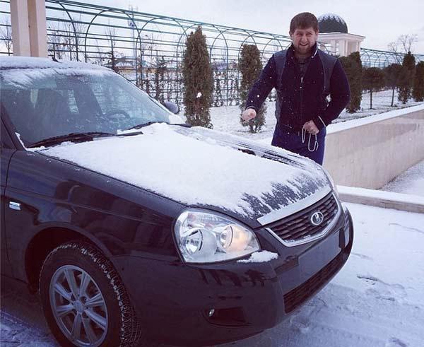 Рамзан Кадыров и его Lada Priora