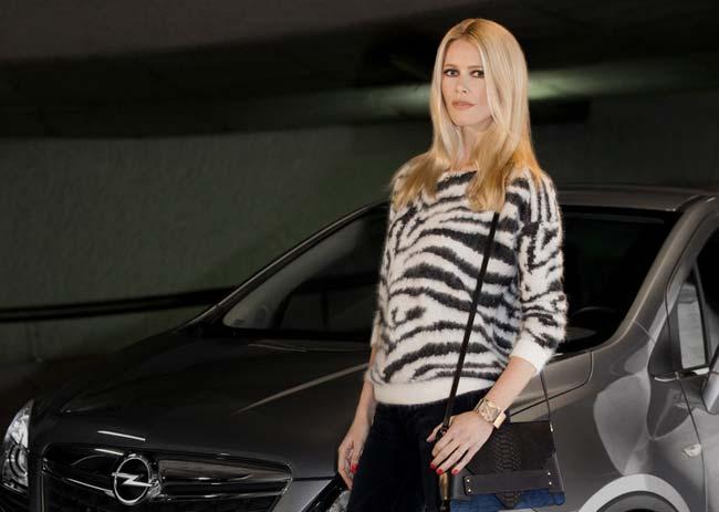 Клаудия Шиффер, рекламное лицо Opel