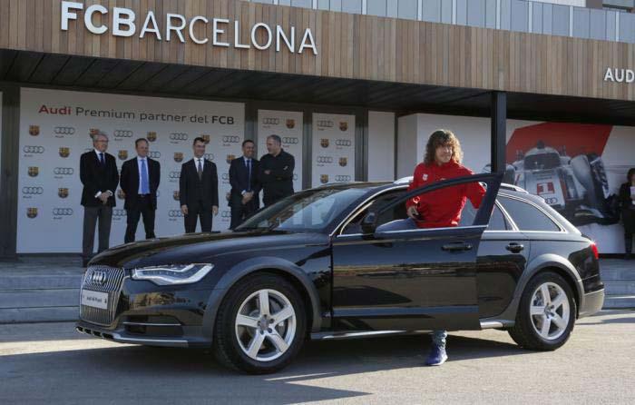 Audi игрокам ФК «Барселона»