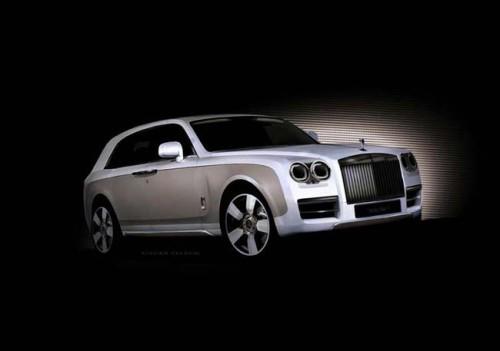 Rolls-Royce SUV, визуализация дизайнера Лутца Вальдега
