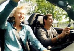 Мария Шарапова и Марк Уэббер на Porsche 918 Spyder