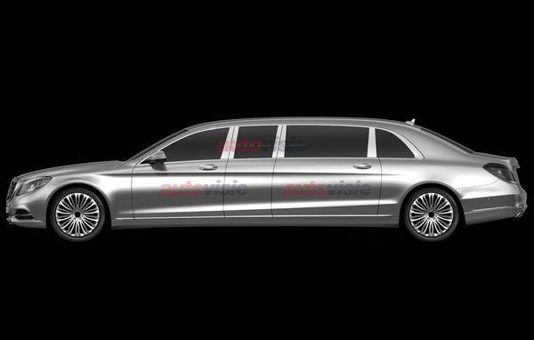 Mercedes-Benz S-class Pullman (патентное изображение)