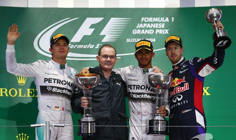 Формула-1. Гран-при Японии. Подиум