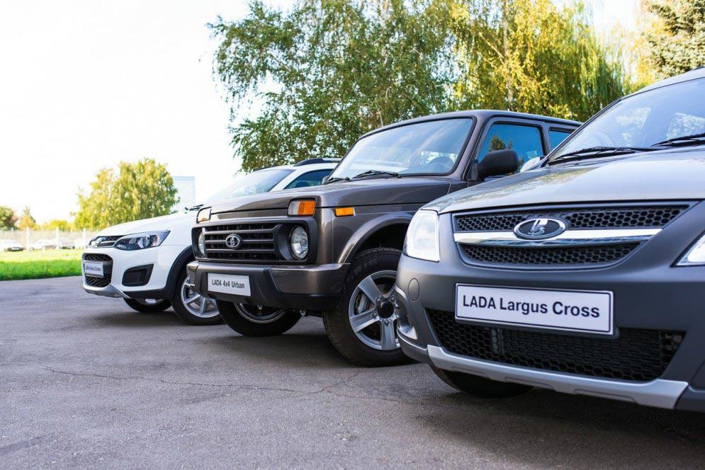 Модели Lada серии Cross: Kalina Cross, 4x4 Urban, Largus Cross