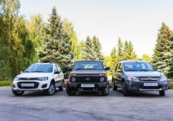 Модели Lada серии Cross: Kalina Cross, 4x4 Urban, Largus Cross