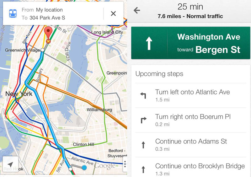 Google Maps, пробки