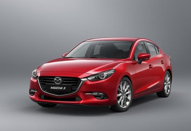 Ознакомиться срублёвыми ценами наобновленную Mazda3 можно вглобальной сети