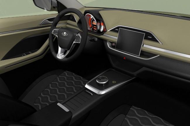Дизайнер АвтоВАЗа подготовил рисунок салона концепт-кроссовера Лада XCODE