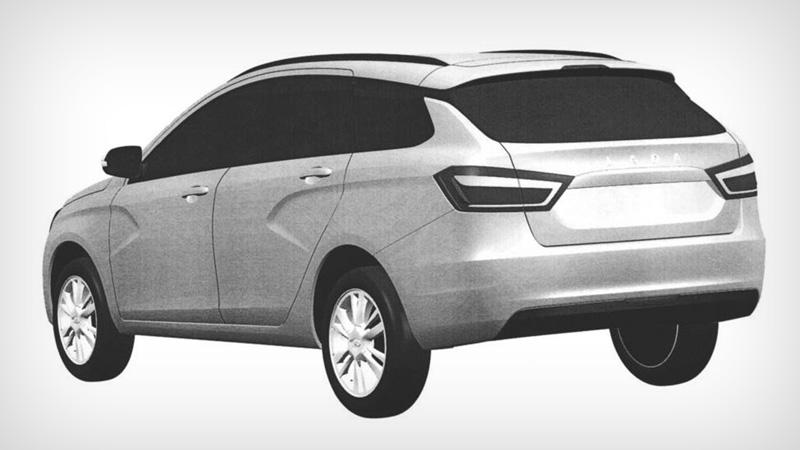 Lada Vesta SW (патентное изображение)