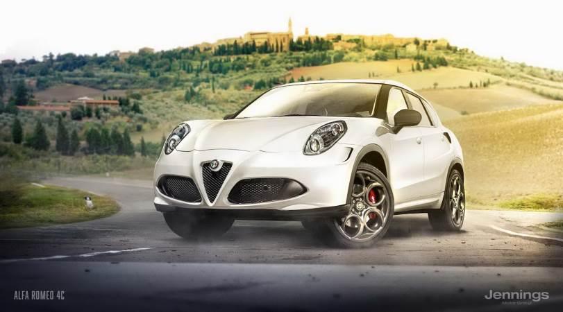 Спорт-кросс из Alfa Romeo 4C