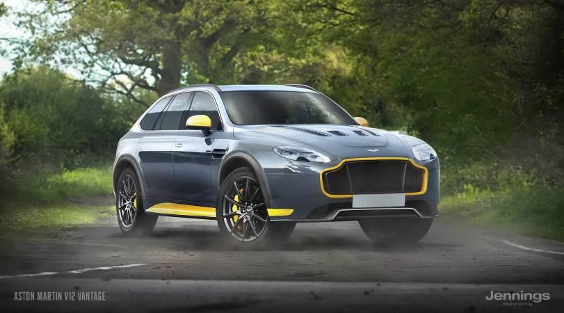 Спорт-кросс из Aston Martin V12 Vantage
