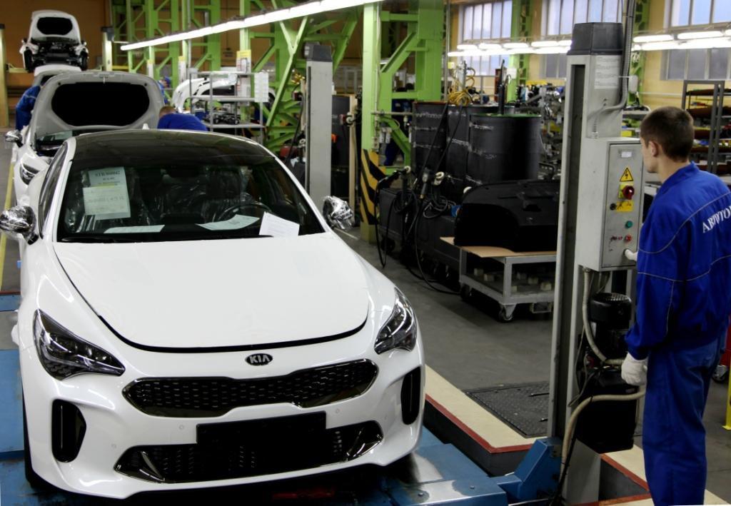 "Производство Kia Stinger на заводе ""Автотор"""