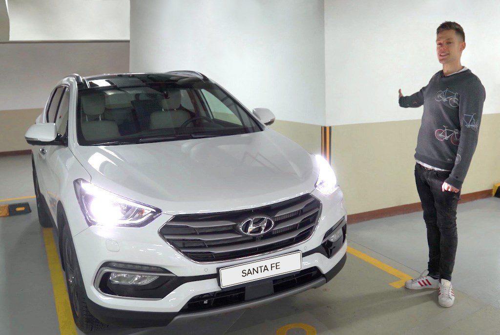 Юрий Дудь и его новый Hyundai Santa Fe
