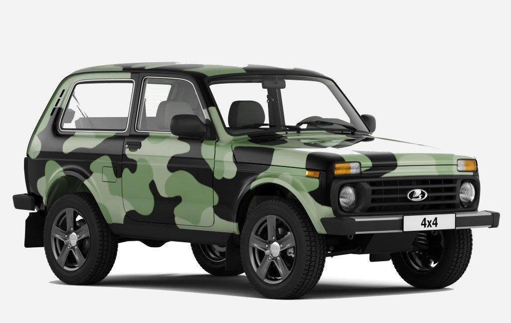 Камуфляжная Lada 4x4