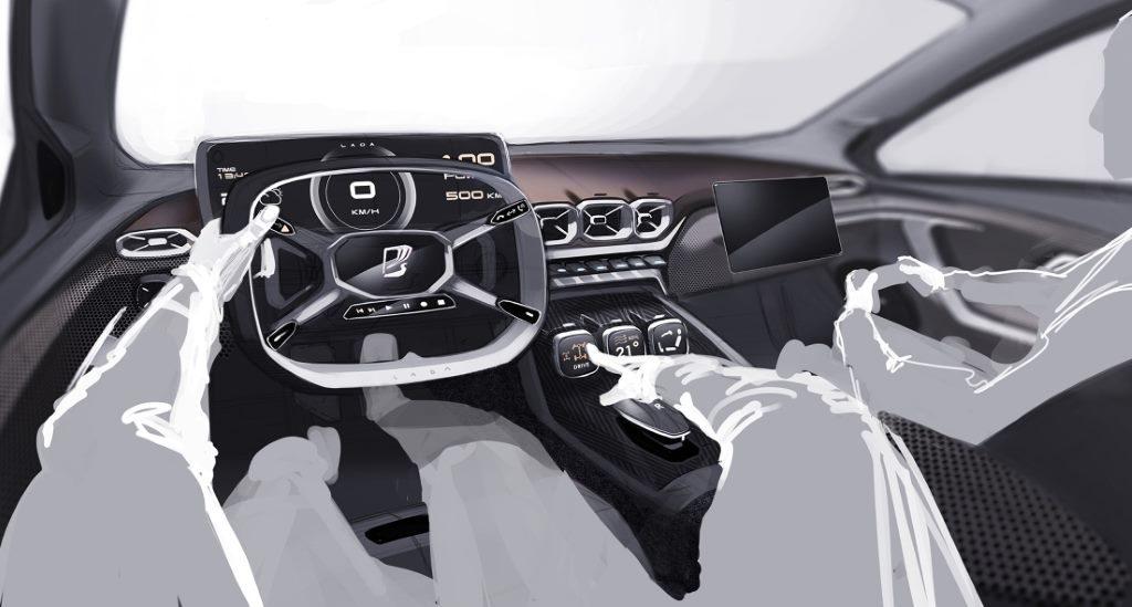 Перспективный дизайн Lada. Автор эскиза: Илья Иванов