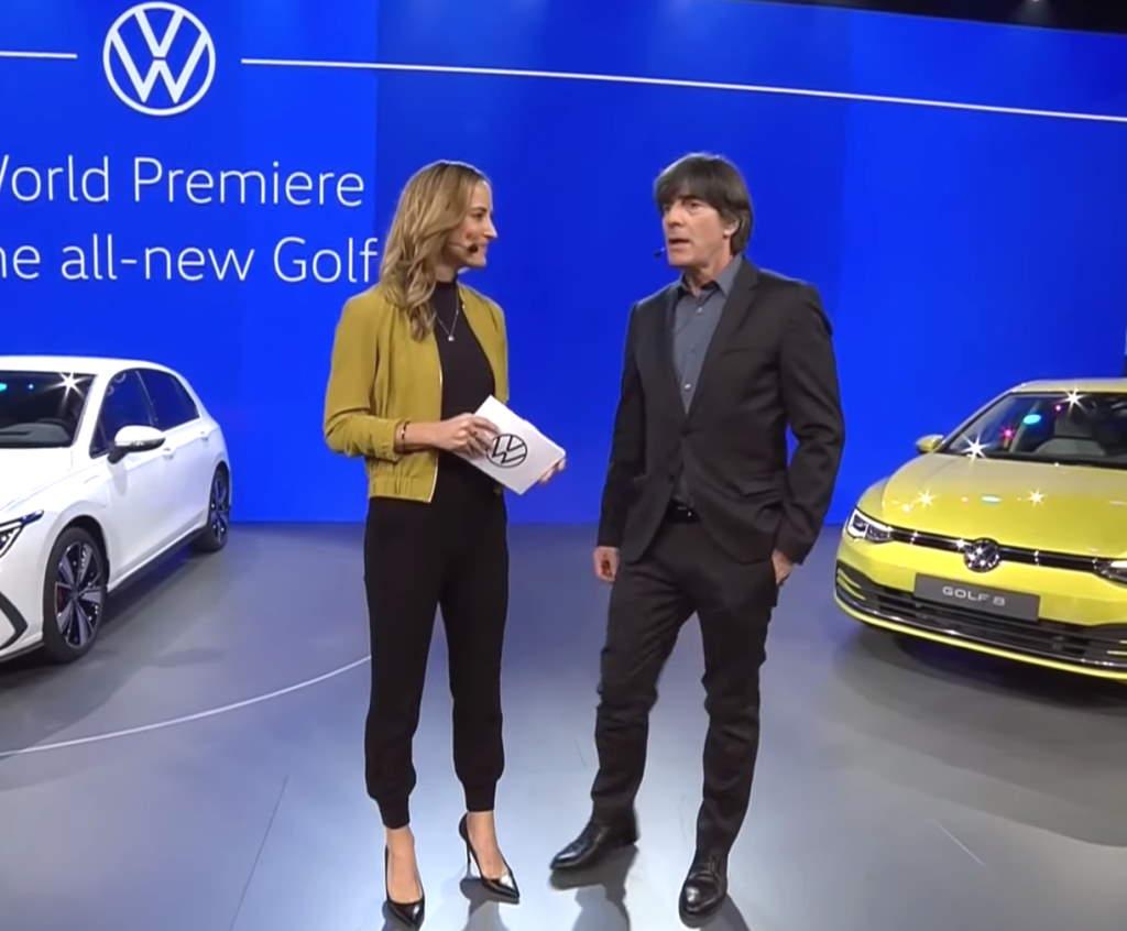 Йохим Лёв на презентации Volkswagen Golf восьмого поколения
