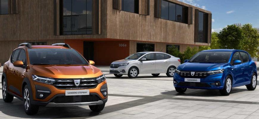 2021 Dacia (Renault) Logan, 2021 Dacia (Renault) Sandero и 2021 Dacia (Renault) Sandero Stepway