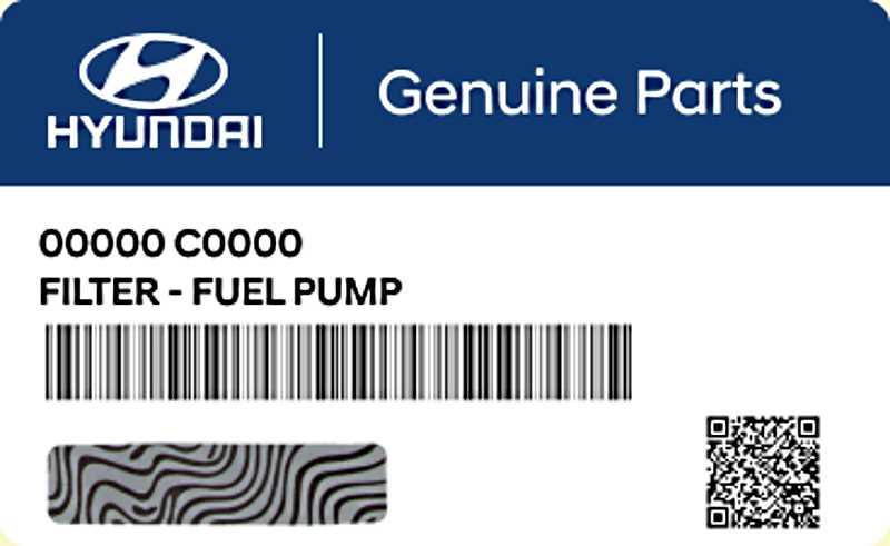 Специальная маркировка запчастей Hyundai