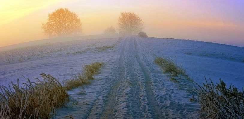 Зима, зимняя дорога