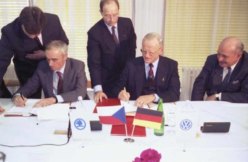 Соглашение о слиянии Volkswagen и Skoda, март 1991 года