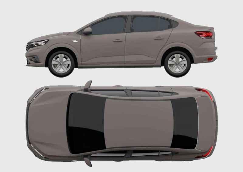 2022 Renault Logan. Патентные изображения