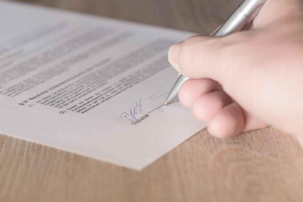 Подпись под документом