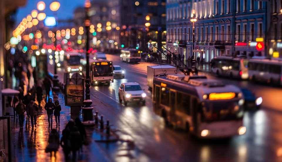 Ночной город. Невский проспект, Санкт-Петербург